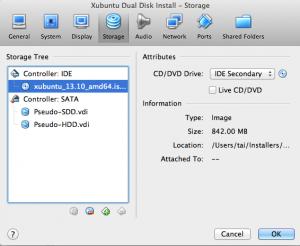 VBox setup 2 disks
